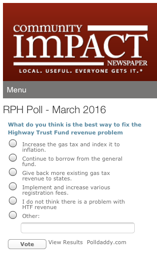 Highway Trust Fund fixes (poll)