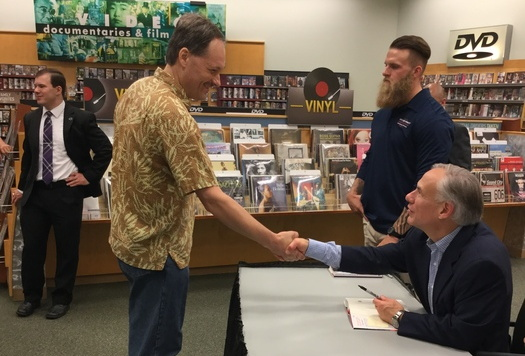 Shaking Hands with Governor Abbott