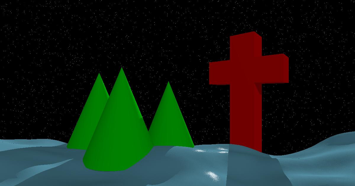 Christmas scene at night