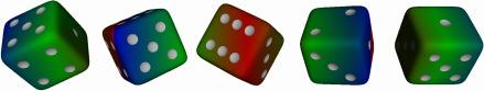 Six-sided dice bar
