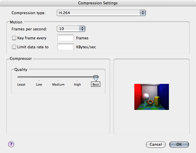 POV-Ray Compression Preference