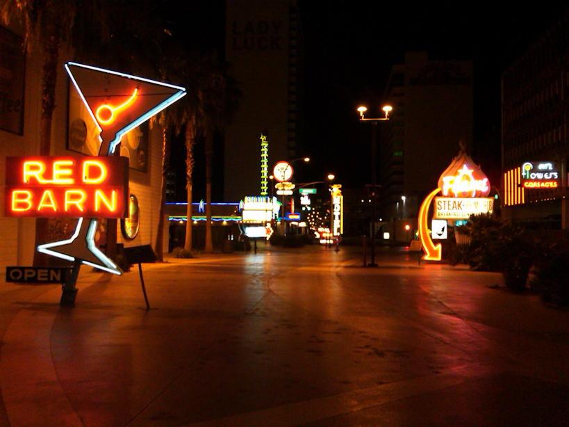 Restored Neon Signs Fremont Street Las Vegas