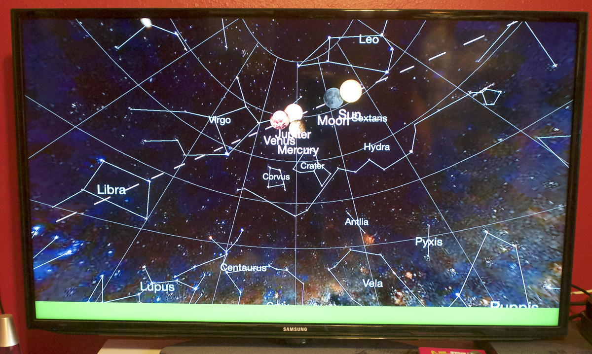 Planets app on Apple TV