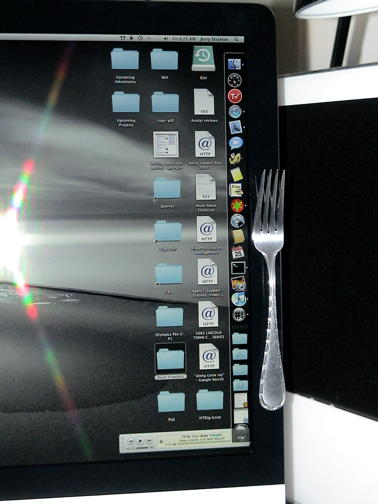 Docking a fork on the new iMac