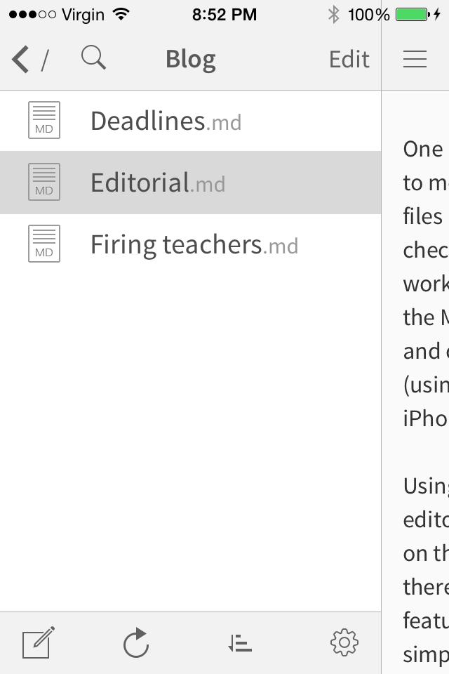 Dropbox on Editorial