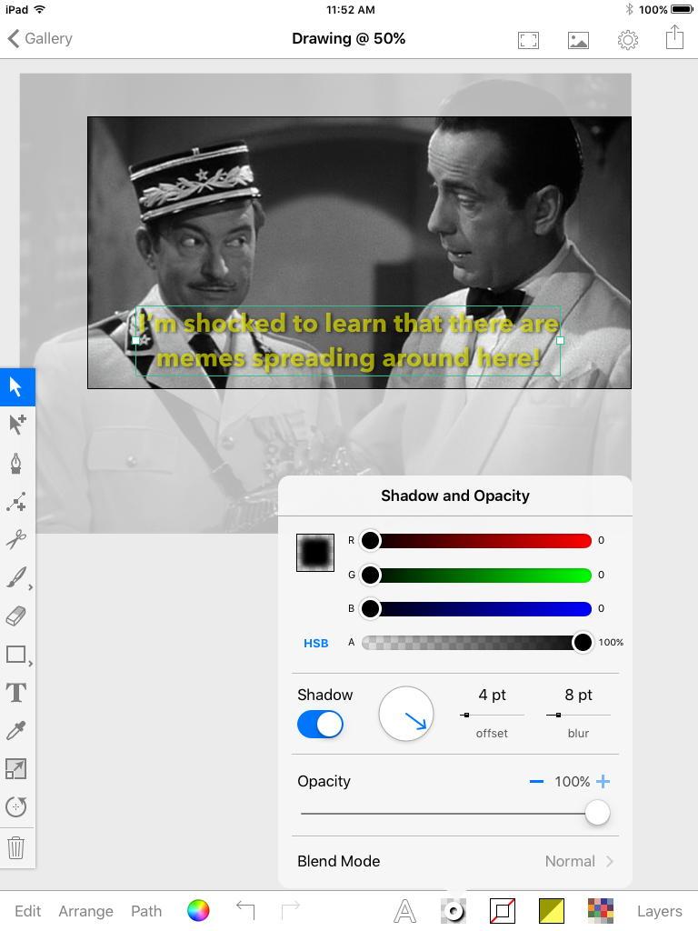 Inkpad shadow and opacity