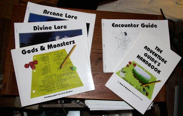 Gods & Monsters Rulebooks