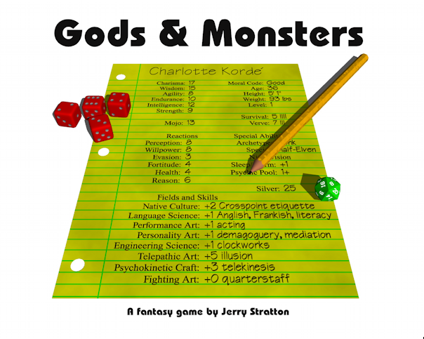 Gods & Monsters rulebook cover