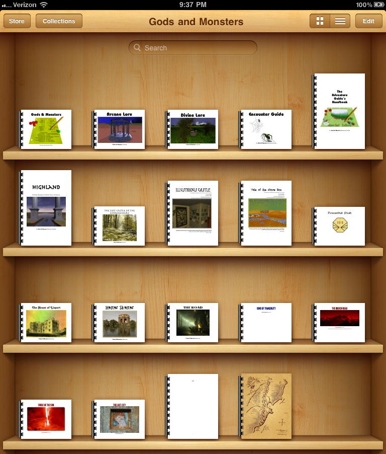 iBook bookshelf