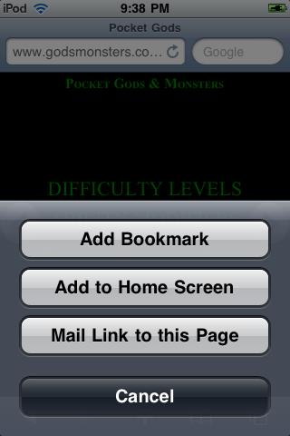 Bookmark Pocket Gods