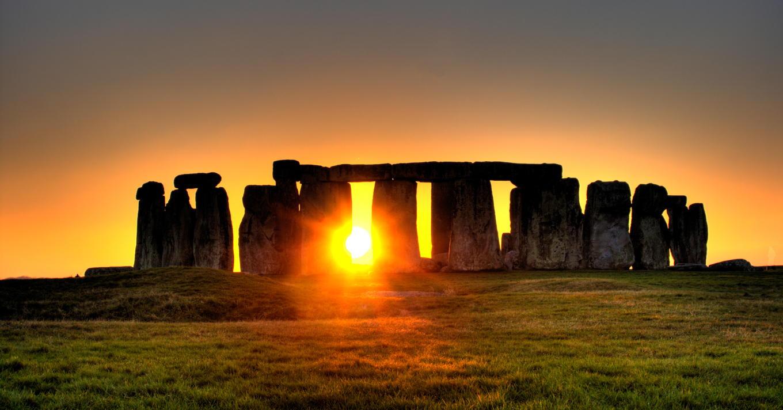 Sun Behind Stonehenge