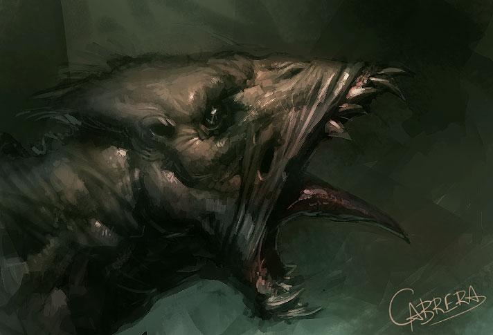 Screaming bat creature