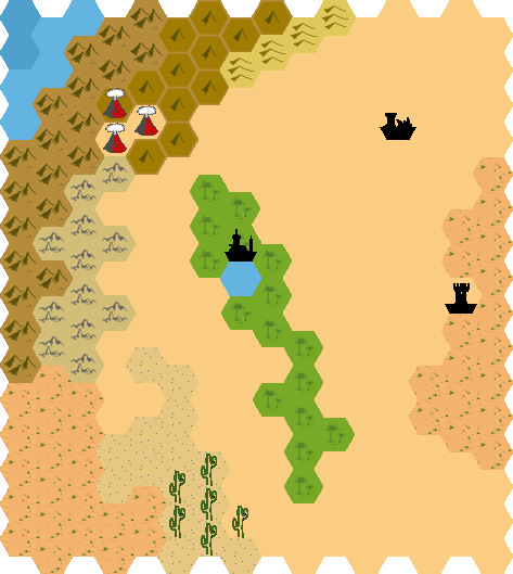 Player map of the desert