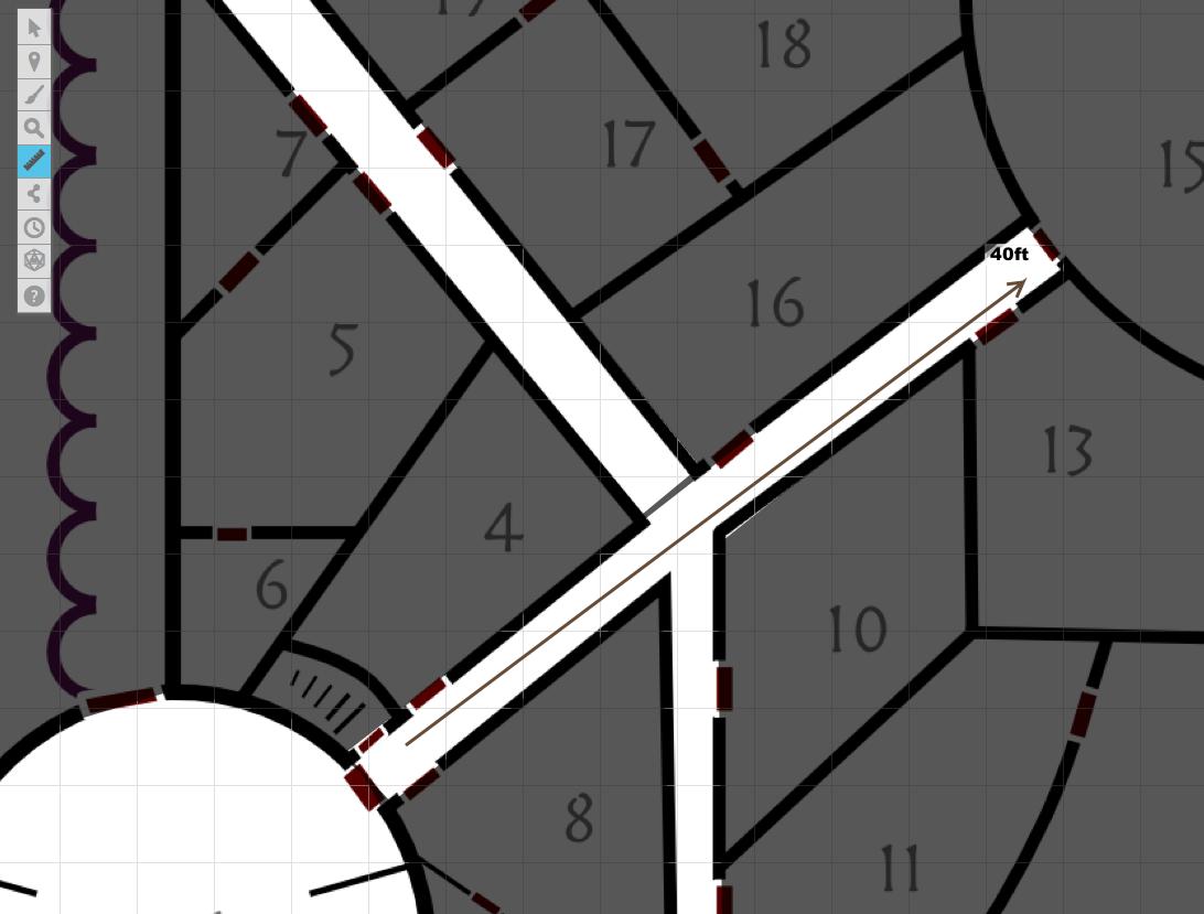 Roll20 map measurements