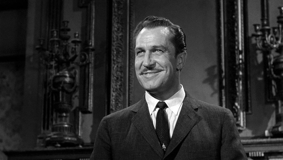 Vincent Price smiles