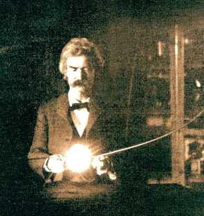 Mark Twain visits Nikola Tesla