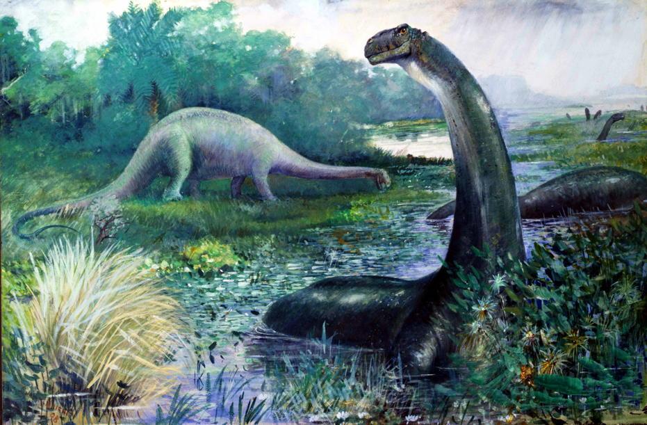 Grinning Brontosaurus