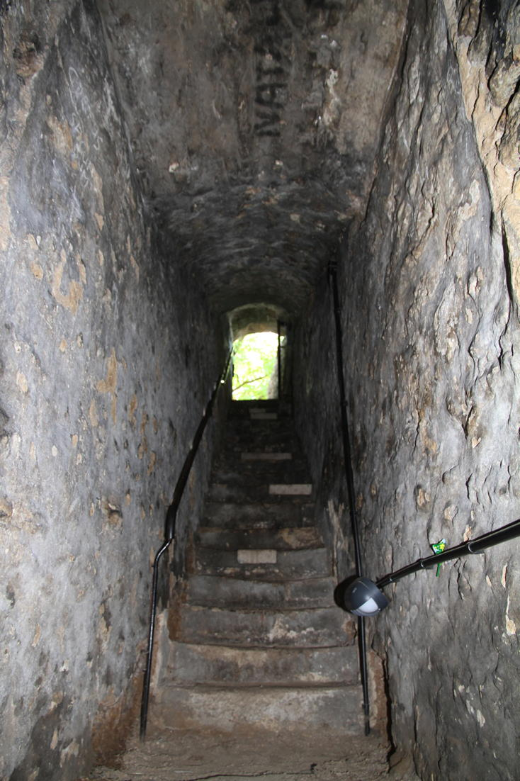 Oxford Castle motte well stairs