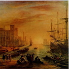 A Seaport at Sunset thumbnail