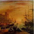 A Seaport at Sunset thumbnail