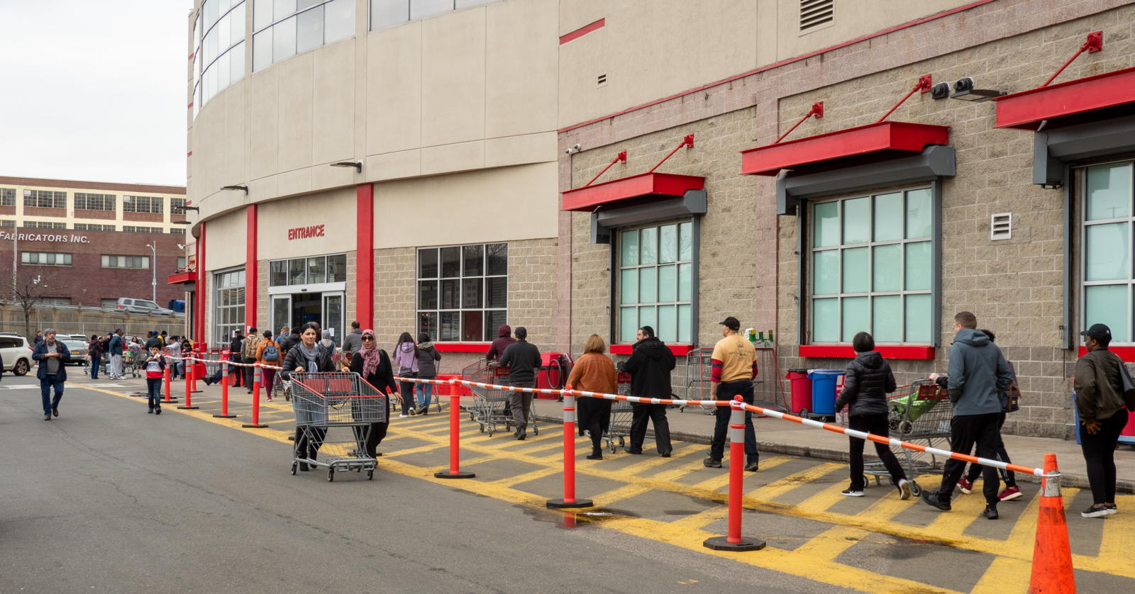 Costco line in Brooklyn