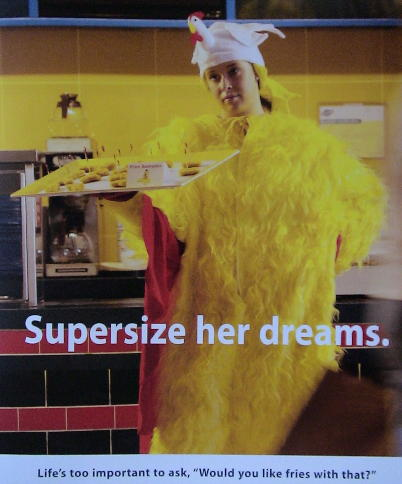 Supersize her dreams