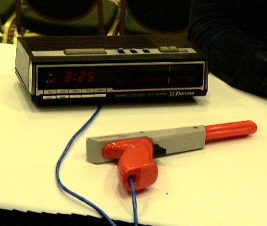 Alarm clock shooter