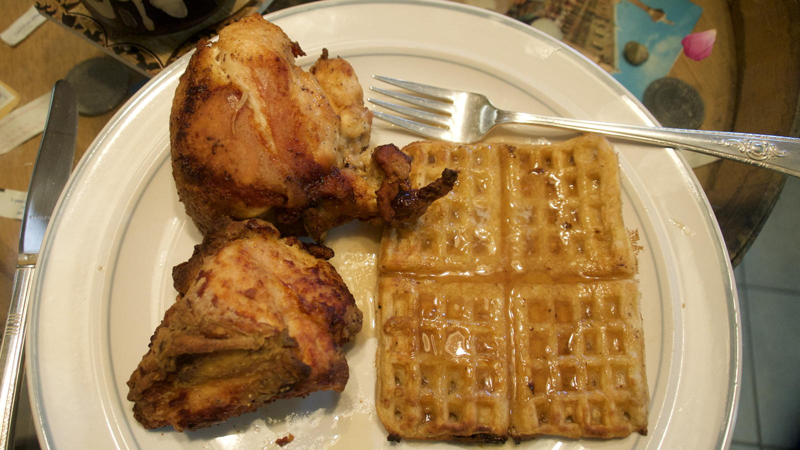 Chicken and homemade waffles
