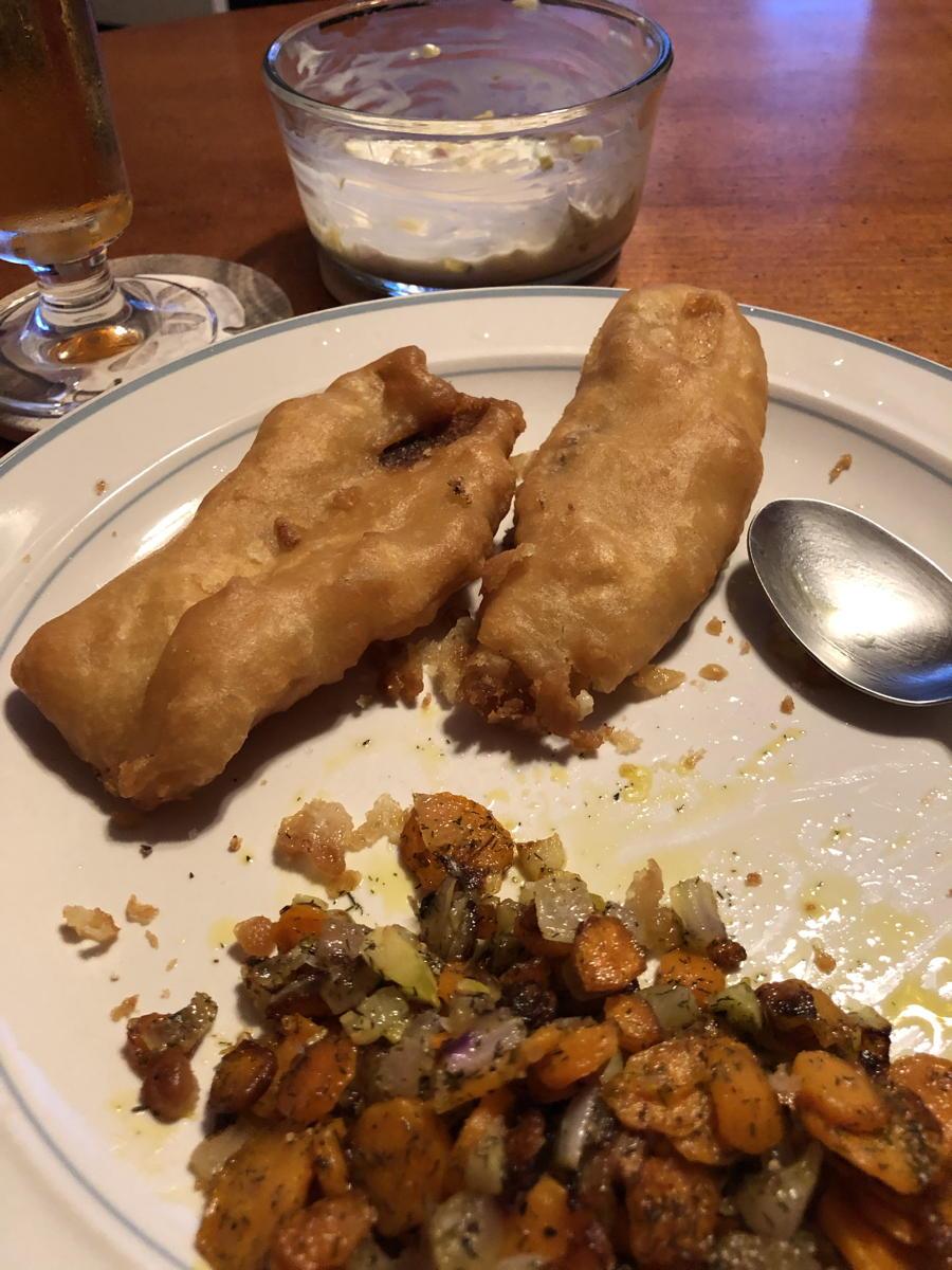 Tempura fried fish