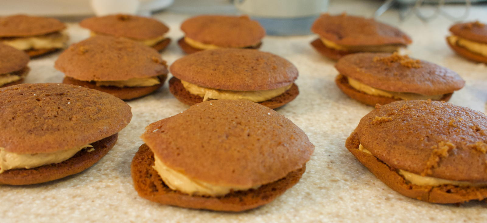 Molasses ginger sandwich cookies