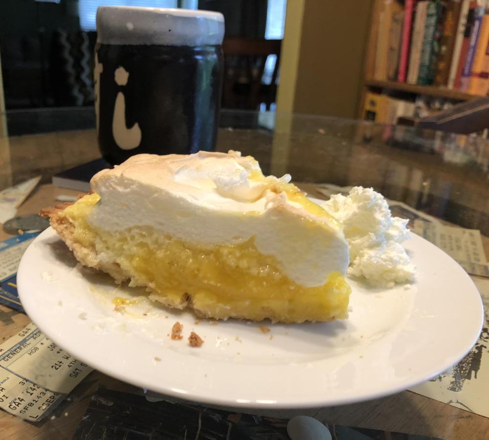 Perfect lemon pie slice