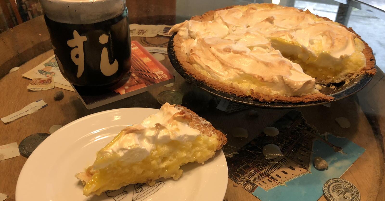 Perfect lemon pie and slice