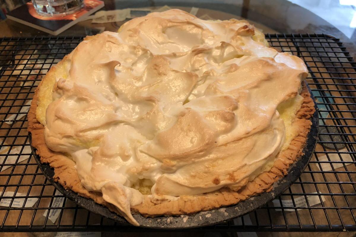 Whole perfect lemon pie