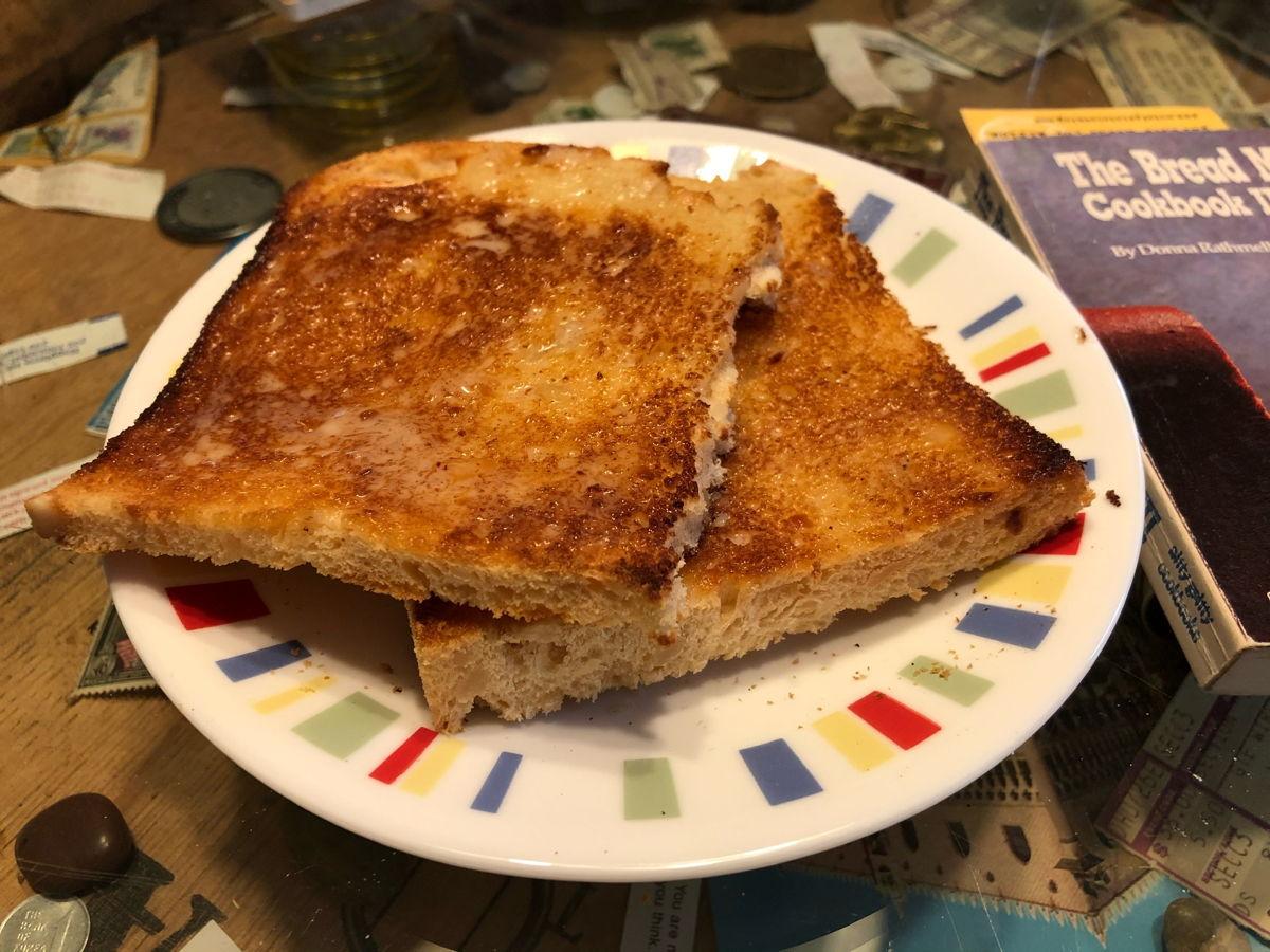 Toasted macadamia bread