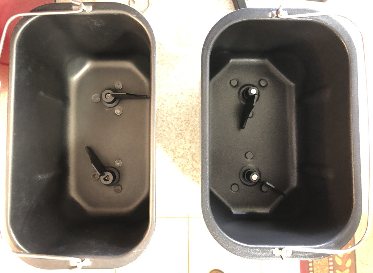 B6000C and Hi-Rise bread pans compared