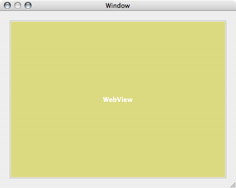 AppleScript Studio Web View Resize