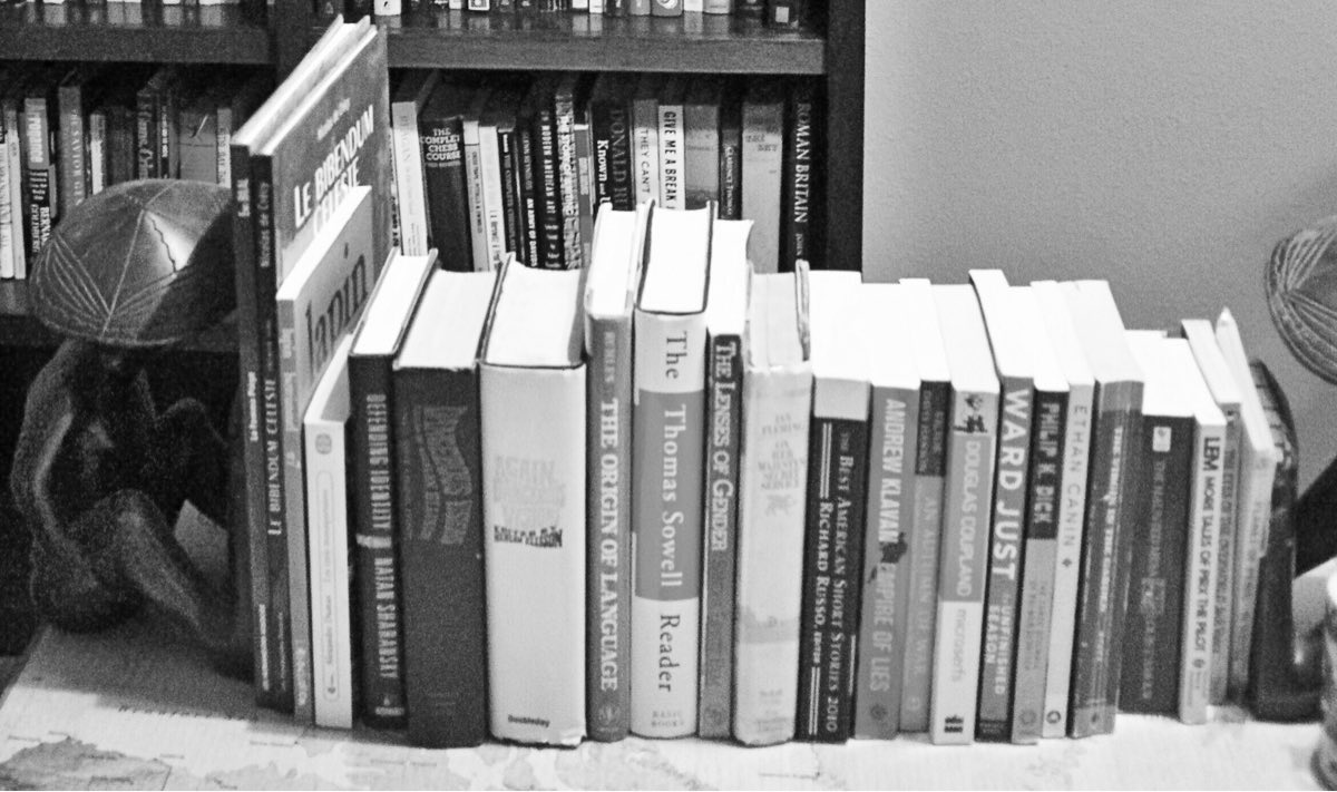 Books on a map