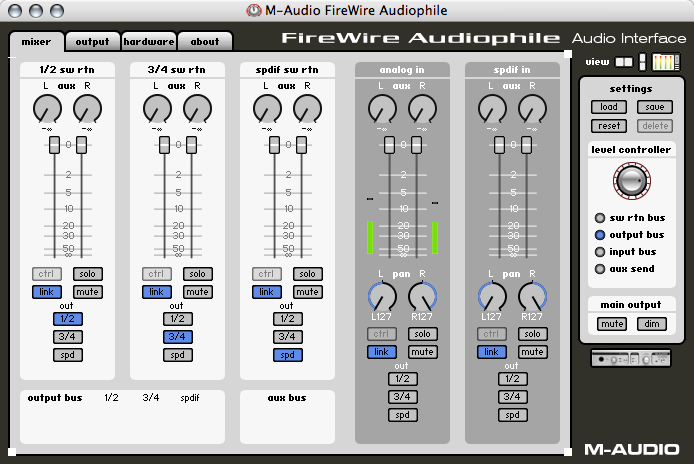 M-Audio FireWire Audiophile Mixer