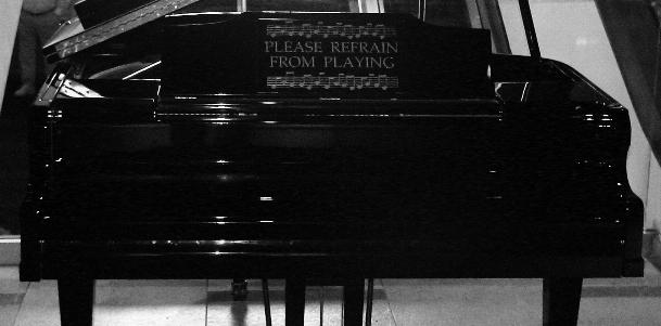 Please refrain from playing