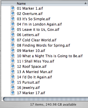 Sound Studio Song Folder