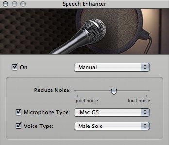GarageBand Speech Enhancer