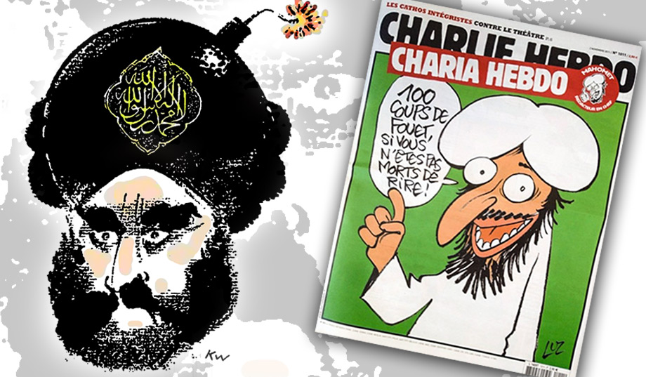 Mohammed guest edits Charlie Hebdo