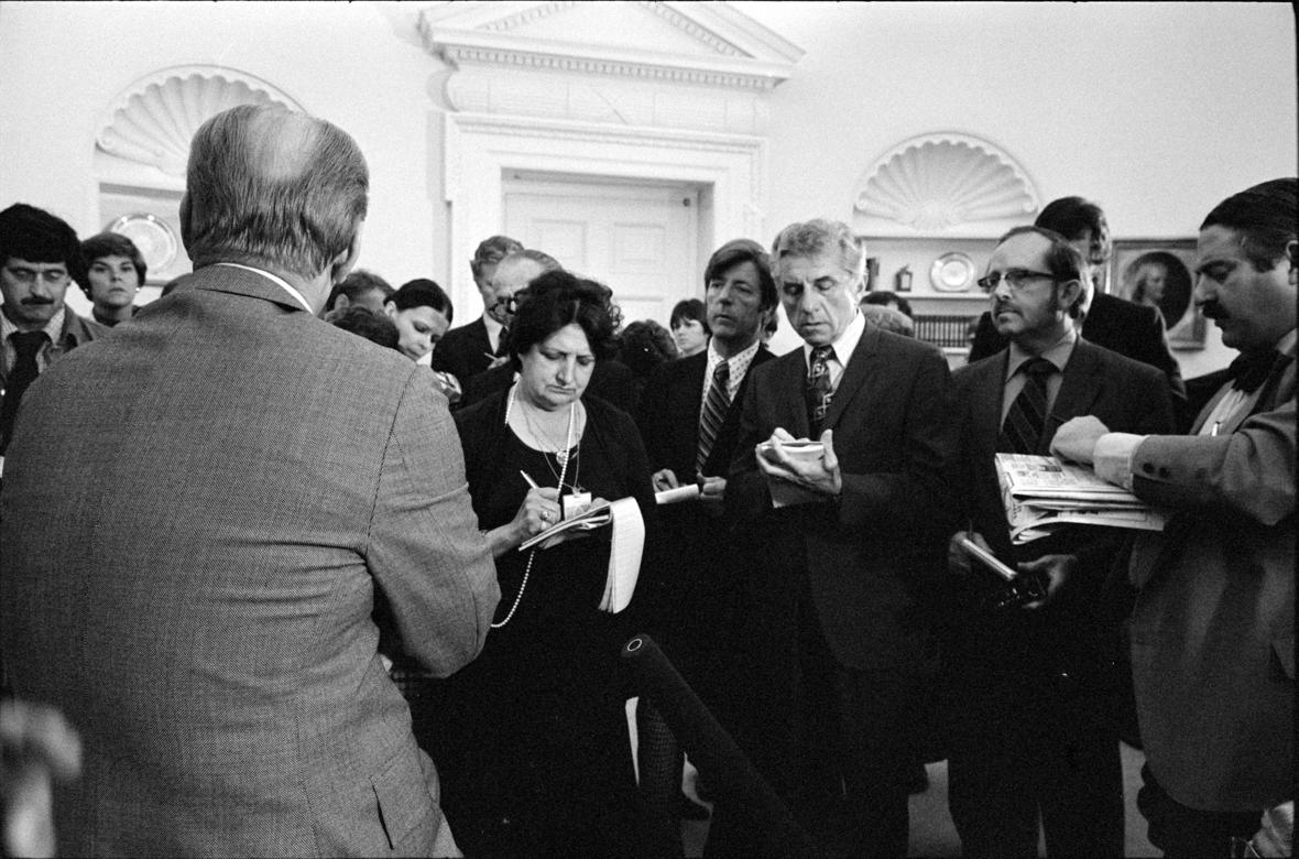 Gerald Ford and Helen Thomas