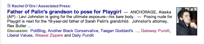 Six Degrees of Sarah Palin