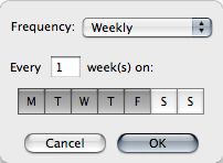 Weekly Recurring Alarm
