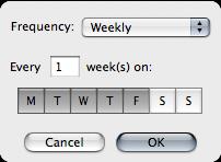 Weekly Recurring Alarm