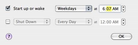 Wake up weekdays