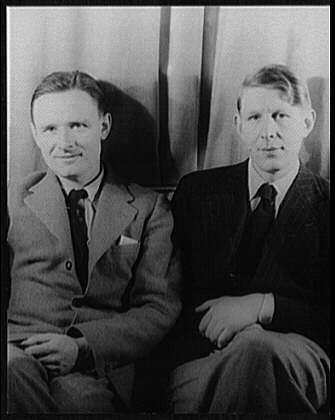 Christopher Isherwood with W.H. Auden