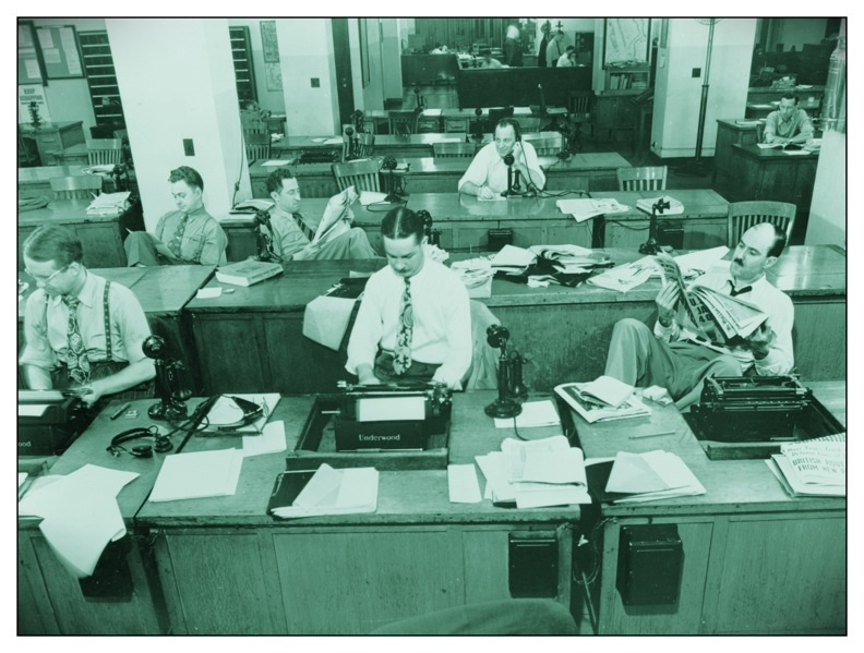 New York Times newsroom 1942