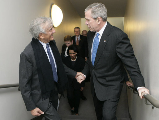 George Bush and Elie Wiesel